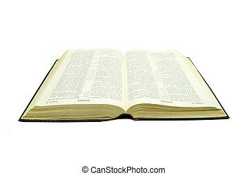 kinyitott, biblia