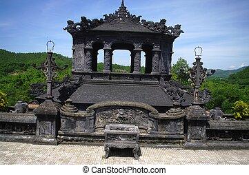 Kiosk at the tomb of King Khai Dinh