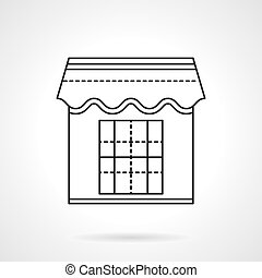 Kiosk flat line vector icon