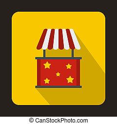 Kiosk icon, flat style