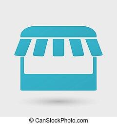 Kiosk icon on white background