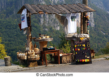 Kiosk in canyon Tara, Montenegro