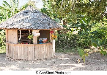 Kiosk in Cuba Selling Tropical Fruit - A kiosk selling ...