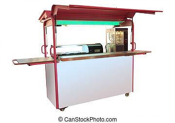 Kiosk isolated under the white background