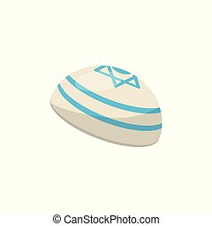 Kippah, yarmulke, Jewish headwear vector Illustration on a...