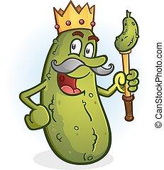 király, ecetes lé, karikatúra, betű
