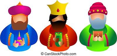 király, három