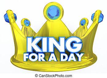király, királyi lombkorona, ábra, bánásmód, szavak, nap, 3