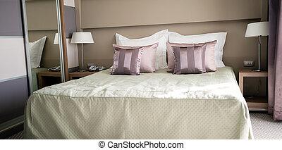 király, nagyság, ágy, accomodation