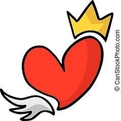király, szív
