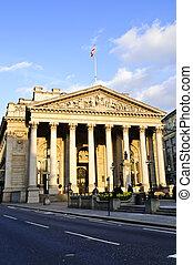 királyi cserél, épület, alatt, london