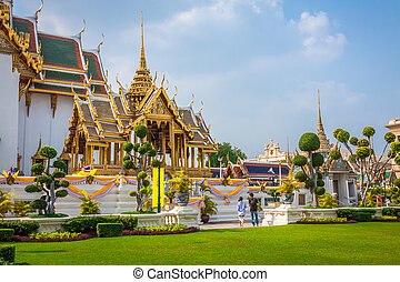 királyi, nagy palace, alatt, bangkok, ázsia, thaiföld