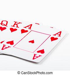 királyi pirul, kártyázás