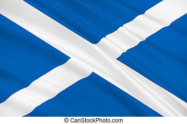 királyság, nagy, egyesült, skócia, britain, lobogó