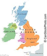 Terkep Anglia Skocia Wales Reszletes Terkep Eps10 Lobogo