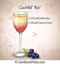 kir, alcool, cocktail