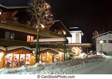 Kirchberg #19 - Restaurant and streets in Kirchberg,...