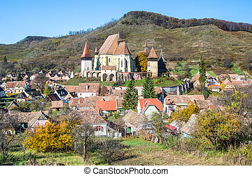 kirche, verstärkt, biertan, transylvania