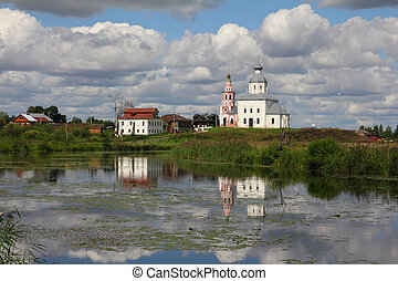kirche, von, elijah, der, prophet, -, suzdal, russland
