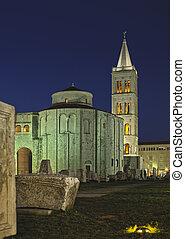 kirche, von, str., donat, von, der, 9. jahrhundert, in, zadar, kroatien