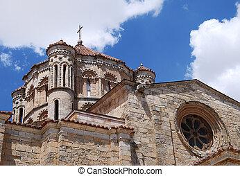 Kirche, wolkenhimmel, mittelalterlich, Kuppel