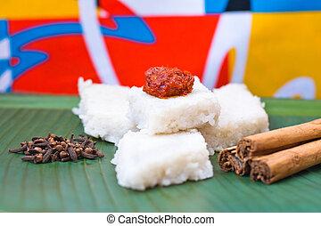 Kiribath, The milk rice is a traditional Sri Lankan food ...
