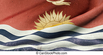 kiribati, drapeau, république