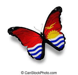 Kiribati flag butterfly, isolated on white