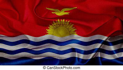 Kiribati grunge waving flag