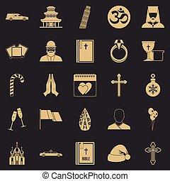 Kirk icons set, simple style - Kirk icons set. Simple set of...