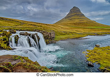 Kirkjufellsfoss waterfall in Iceland