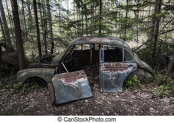 Kirkoe Mosse Bilkyrkogard Dead Car