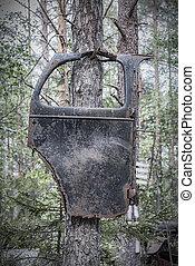 Kirkoe Mosse Bilkyrkogard Hanging Car Door