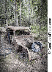 Kirkoe Mosse Bilkyrkogard Rusty Car