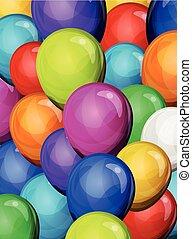 kirmes, party, luftballone, hintergrund