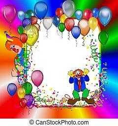 kirmes, party, rahmen, mit, luftballone