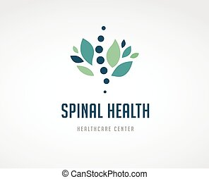kiropraktik, massage, smerte tilbage, og, osteopathy, ikon