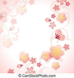 kirsebær blomstrer, baggrund
