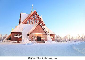 Kiruna cathedral church Sweden