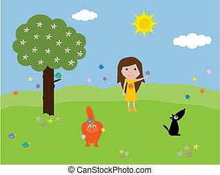 kisállat, a parkban
