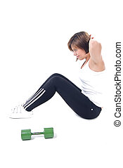 kisasszony, birtoklás, a, napi, exerci