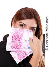kisasszony, kitart pénz, kezezés