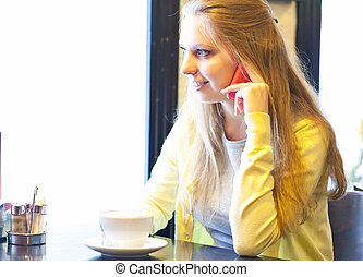 kisasszony, noha, csésze kávécserje