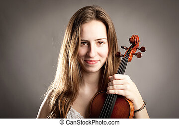 kisasszony, noha, hegedű