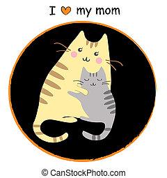 kiscica, anyu