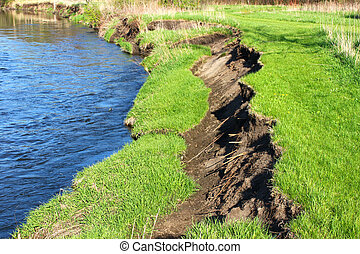 Kishwaukee River Bank Erosion Illinois
