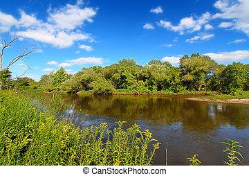 Kishwaukee River Landscape Illinois