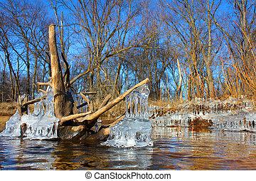 Kishwaukee River Winter Illinois