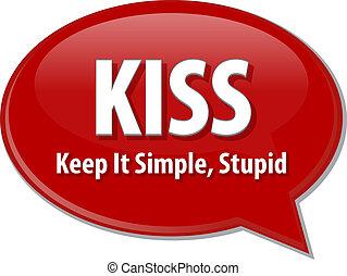 KISS acronym word speech bubble illustration