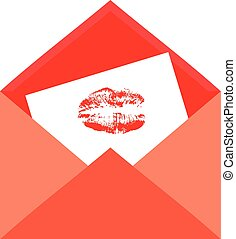 Kiss in envelope